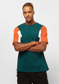 Urban Classics 3-Tone Tee jasper/rust/orange