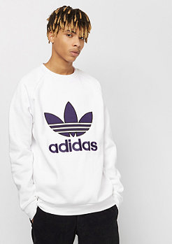 adidas Applique Trefoil Crew white
