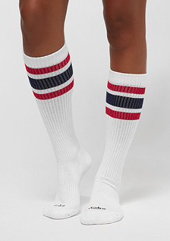 SNIPES Striped Tube Socks 2PK white red navy