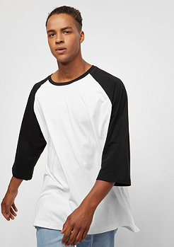 Urban Classics Contrast 3/4 Sleeve white/black