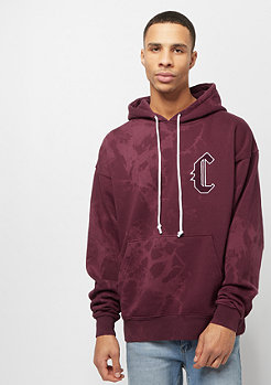 Cayler & Sons BL Blackletter Box Hoody bordeaux tiedye/white