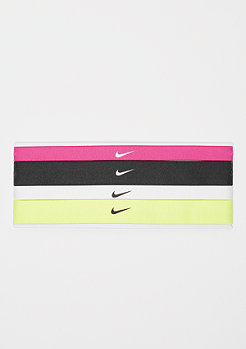 NIKE Printed Headbands Assorted 4 Pack vivid pink/black/whitte