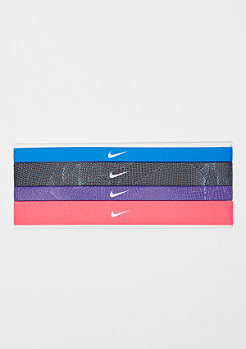 NIKE Printed Headbands Assorted 4 Pack blue/black/fusion violet