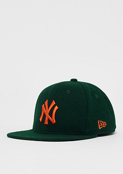 New Era 9Fifty MLB New York Yankees Winter Melton dark green/orange