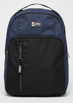 SNIPES Color Block Basic Backpack black/navy