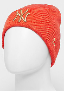 New Era Cuff Knit MLB New York Yankees Essential orange/wheat