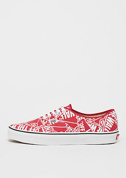 VANS UA Authentic OTW repeat red/true white