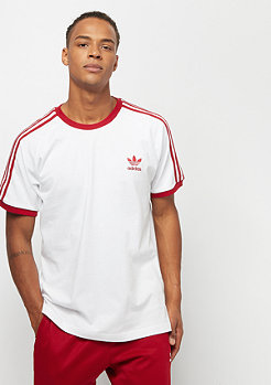 adidas 3-Stripes Tee white/power red