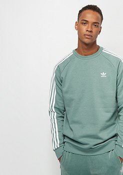 adidas 3-Stripes Crew vapour steel