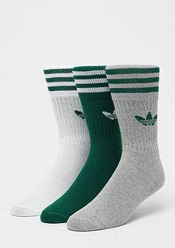 adidas Solid Crew Socks 3Pcollegiate green/white