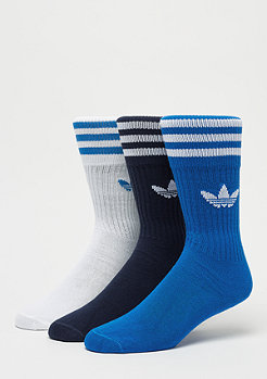 adidas Solid Crew Socks 3P collegiate navy/bluebird/white