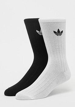 adidas Mid Rib Crew Sock 2P black/white