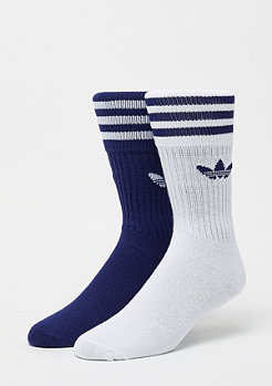 adidas Solid Crew Socks 2P dark blue/white