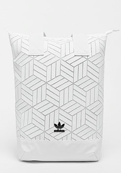 adidas Backpack Roll Top 3D white