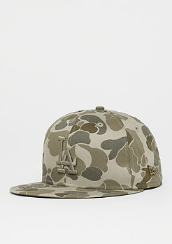 New Era 59Fifty MLB Los Angeles Dodgers Camo steel clouds/opt white