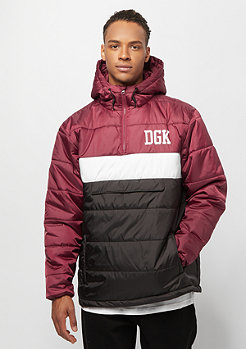 DGK Blocked Puff Jacket burgundy
