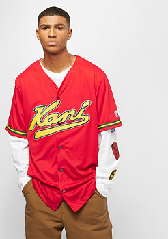 Karl Kani College Baseball Shirt red yellow