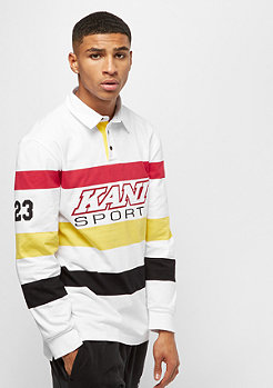 Karl Kani KK Block Rugby Shirt white black yellow red
