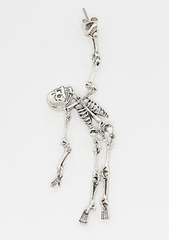 Cheap Monday Skull Earings silver