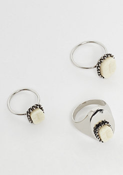 Cheap Monday Teeth Rings rhodium
