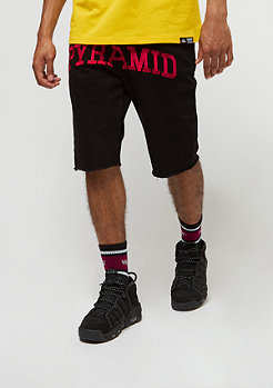 Slim Fit Pyramid Checker Denim Short black