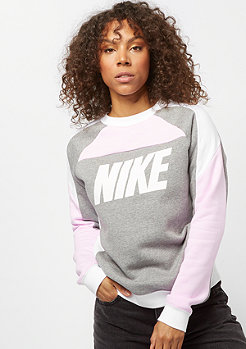 NIKE NSW fleece pink foam/carbon heather/white/white
