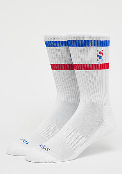 SNIPES Stripe Crew Socks white/blue/red