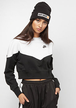 NIKE Heritage Crew Fleece black/white/black