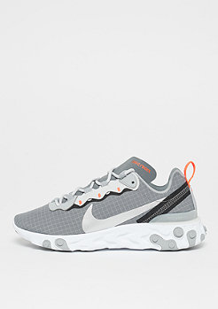 NIKE React Element 55 cool grey/metallic silver hyper crimson