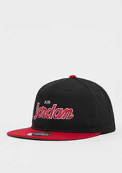 JORDAN Pro Script Cap black/university red/pine green