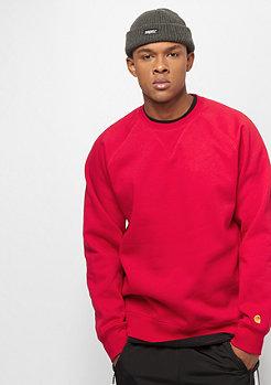Carhartt WIP Chase Sweatshirt cardinal / gold