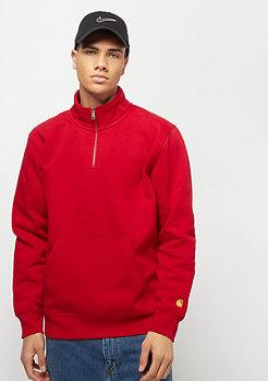 Carhartt WIP Chase Neck Zip Sweatershirt cardinal / gold