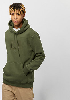 Criminal Damage CD Muscle Pullover Hood olive
