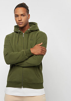 Criminal Damage Muscle Zip Hood olive