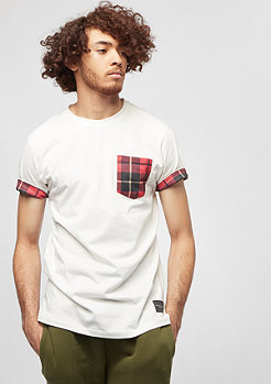 Criminal Damage Check Pocket Tee off white/red