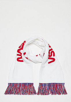 Mister Tee NASA Scarf Knitted white/blue/red