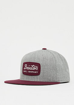 Brixton Jolt Snap heather grey/burgundy