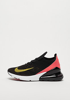 NIKE Air Max 270 Flyknit black/yellow strike/bright crimson