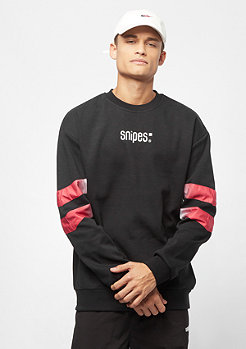 SNIPES Small Basic Logo Crew black/red/white