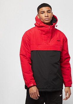 SNIPES Block Windbreaker red/black