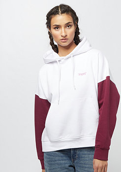 SNIPES Block Chest Logo Hoodie white/bordeaux