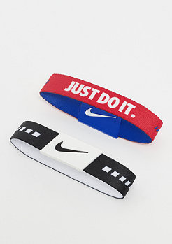 NIKE Baller Bands black/white/university red/racer blue