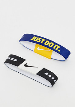 NIKE Baller Bands black/white/rush blue/white