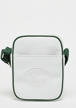 Lacoste Vertical Camera Bag white green