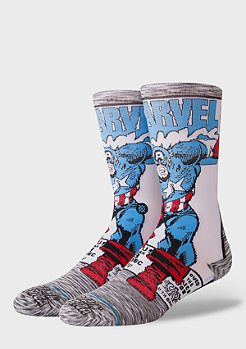 Stance Foundation Captain America Comic grey