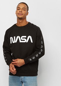 Mister Tee NASA Wormlogo Rocket Tape Crewneck black