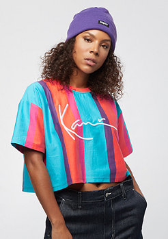 Karl Kani Stripe Tee red, green, purple