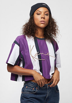 Karl Kani Stripe Tee white, purple, blue