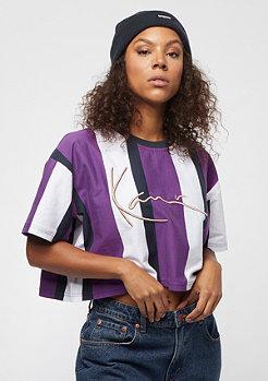 Karl Kani Stripe Tee white, purple, blue