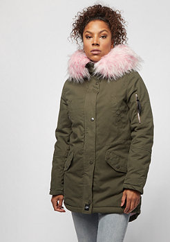 Sixth June Parka khaki light pink